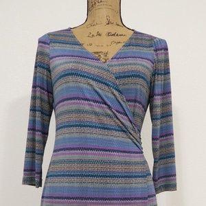 TAHARI ARTHUR S. LEVINE Silky Wrap Dress